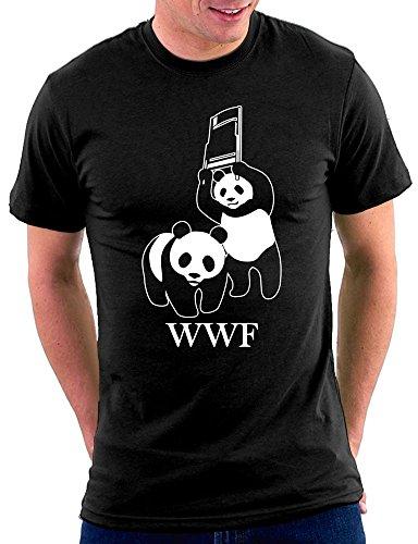 WWF Parodie T-shirt Schwarz