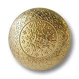 Knopfparadies - 5er Set wunderschöne filigran gemusterte glänzend goldfarbene Metallknöpfe in Halbkugel Form / Schwerer gearbeitet / Glänzend goldfarben / Metall Knöpfe / Ø ca. 23mm