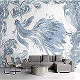 HONGYAUNZHANG Einfache Tier Fisch Benutzerdefinierte Fototapete 3D Stereoskopischen Wandbild Wohnzimmer Schlafzimmer Sofa Hintergrund Wandmalereien,200Cm (H) X 280Cm (W)