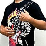 T-shirt Motif guitare électrique Taille fonctionnelle T-shirt avec guitare électrique TAILLE M