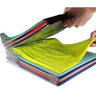 Naisidier Vêtements Organisation System Lot DE 10 T-Shirt Vêtements Classeur Grand Magic Rapide Organiseur