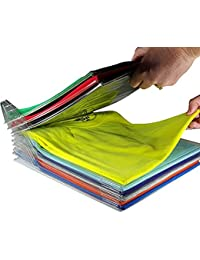 Rocita Organizador de Armarios,2 en 1 Carpeta de Archivos DE Carpetas Folder,Organizador para Ahorrar Espacio Camiseta Plegable de Armario cajón Maleta