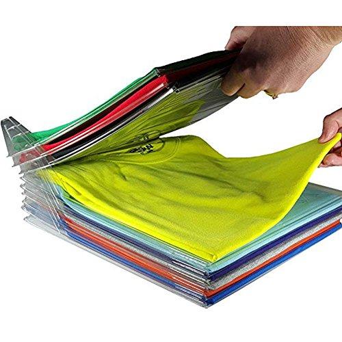 rganisation System, 10/Set T-Shirt Kleidung Ordner großen Magic Schnelle Wäsche Organizer ()