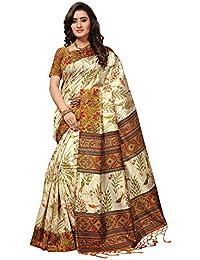 SAREE MALL Art SIlk Saree With Blouse Piece (sarees Below 500 Rupees_APHA1020_Beige_Free Size)