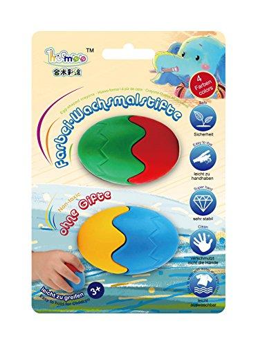 Preisvergleich Produktbild Homee Farbei-Wachsmalstifte Wachsmaler Wachsmalkreide 4 Farben Crayons Malen