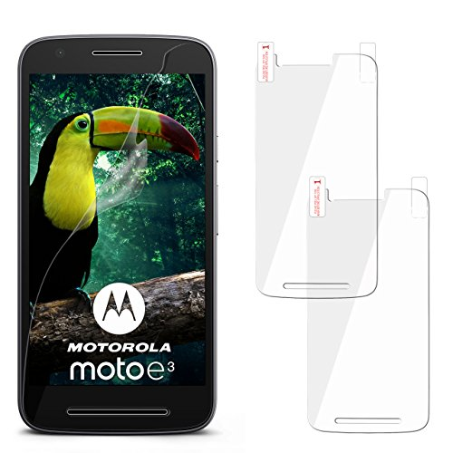 moex 2X Lenovo Moto E3 | Schutzfolie Klar Display Schutz [Crystal-Clear] Screen Protector Bildschirm Handy-Folie Dünn Displayschutz-Folie für Motorola Moto E3 Displayfolie
