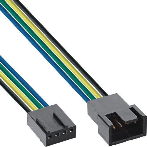 rkabel Verlängerung PWM, 4pol Molex Stecker auf Buchse, 0,3m schwarz ()