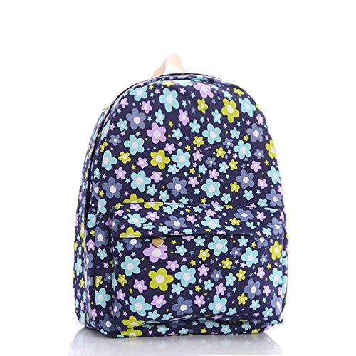 Color Institute Katomi cerniera per bambini fantasy Xinghai-Borsa a tracolla in tela, motivo floreale