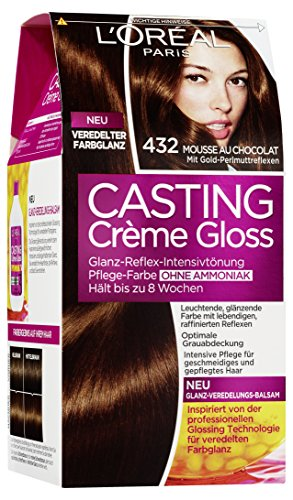 loral paris casting creme gloss pflege haarfarbe 432 mousse au chocolat - Coloration Gloss Chocolat