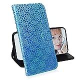 TASoker Handyhülle für LG W10 Hülle Premium Leder Flip Schutzhülle Tasche Bookstyle Brieftasche Schutzhülle Handytasche Magnetisch Kartenfach Ständer Etui Himmelblau