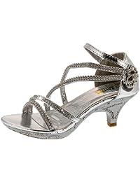 Zapatos de baile para niña, sandalias con tacón