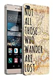 441 - Vitage World Map Not all Those Wonder Are Lost Design Huawei Ascend P8 Lite Fashion Trend Silikon Hülle Schutzhülle Schutzcase Gel Rubber Silicone Hülle