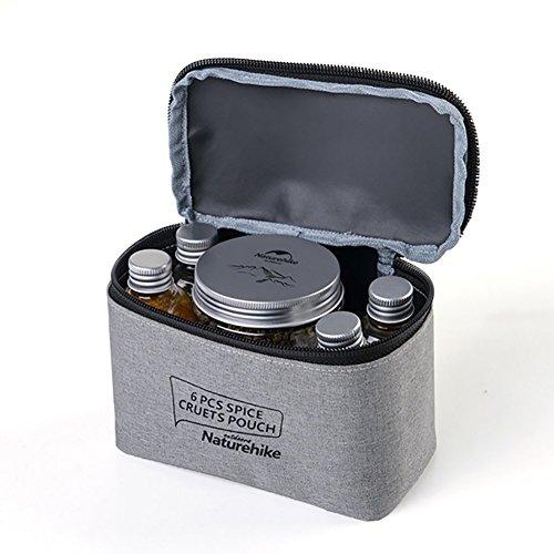 SueSupply Sauce Speisewürze Container Spice Jar für BBQ Gewürz Flaschen Set für Outdoor Camping Picknick für Salz Pfeffer Kräuter oder Gewürzen -