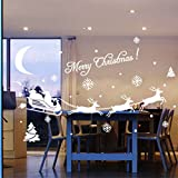 Decorie Romantic Merry Christmas Window Stickers for Festival Home Decor
