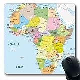 Luancrop Alfombrillas para computadoras Chad Azul Kenia África Mapa político Uganda Sudán...