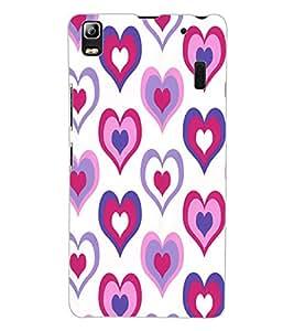 ColourCraft Love Hearts Design Back Case Cover for LENOVO A7000 TURBO