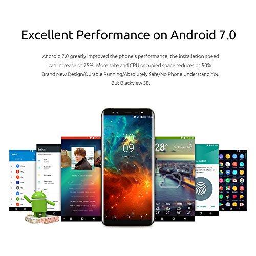 Blackview Moviles Libres S8 Smartphone DE 5 7   Octa-Core 1 5 GHz  RAM de 4 GB  Memoria DE 64 GB  C  mara DE 13 MP  Android 7 0