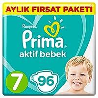 Prima Bebek Bezi Aktif Bebek 7 Beden Süper Fırsat Paketi, 96 Adet