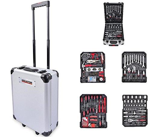 Kreator Werkzeugtrolley Set Werkzeugkoffer Aluminium 253 Teile abschließbar