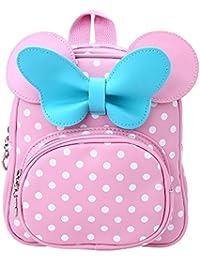 Preisvergleich für Decdeal Kinderrucksack Schultasche Kindergartenrucksack mit Schleife für Mädchen
