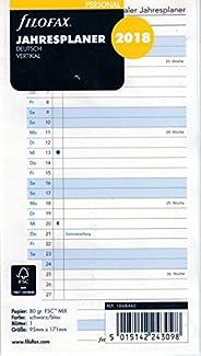 Filofax 000018-68445 Personal Jahresplaner vertikal deutsch 2018, Kalender und Organizer
