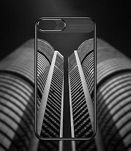 fa5582f0841 Funda iPhone 8, Funda iPhone 7, LAYJOY Carcasa Ligera Bumper Silicona Suave  Negro TPU y Transparente ...