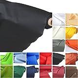 Baumwollstoff Meterware Schwarz leichter Dekostoff - mit Öko-Tex® Standard 100 - Stoffe Meterware Baumwolle