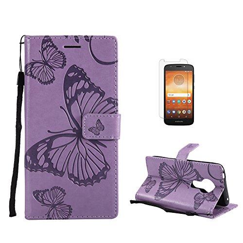 Funda Motorola Moto E5 [con Protector Pantalla], Fatcatparadise (Serie de Mariposa y...