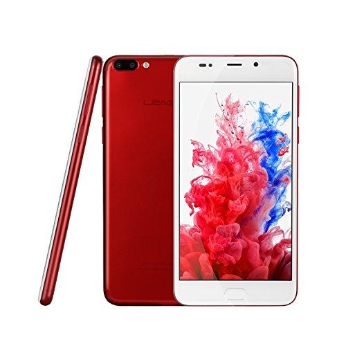 LEAGOO M7 - Doppia Fotocamera Smartphone 3G 5.5'' (Android 7.0, 16 GB ROM + 1 GB RAM, MediaTek MT6580A Quad-Core, Corning Gorilla Glass 4, lettore impronte digitali), rosso
