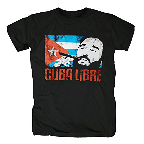 TSP Cuba Libre - Fidel Castro T-Shirt Herren S (Kostüme Castro Fidel)