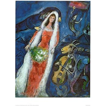 La Mariee Art Poster Print by Marc Chagall, 61x82: Amazon.co.uk ...