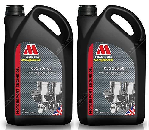 Millers CSS 20W60 Motorsport Olio Motore Semi Sintetico, 10 Lit