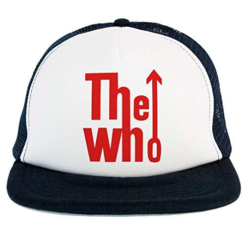 Cappello The Who, Trucker Cap musica Rock and Roll UK, gruppo Leggenda, blu con scritta rossa