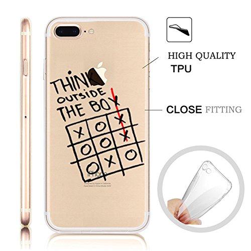 iPhone 7 Plus Transparente Case iPhone 7 Plus 5.5 pouces Cover,MingKun Ultra Mince Transparente Soft TPU Silicone Clair Transparente Case iPhone 7 Plus 5.5 pouces Cover pour iPhone 7 Plus Clair Étui H lettre Motif-11