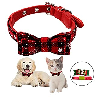 Oumers Christmas Dog Collar, Christmas Trees Pattern Dog Collar 9.5