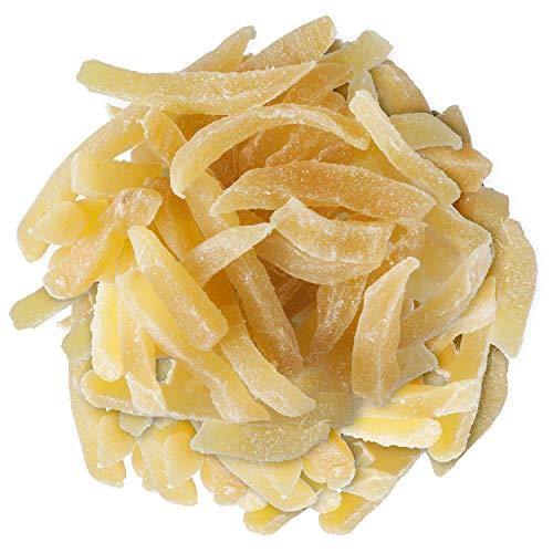 Ingwer Stäbchen Medium Mild 200g - Ingwer leicht kandiert - Kandierter Ingwer Pommes - Trockenfrüchte ungeschwefelt - Bremer Gewürzhandel
