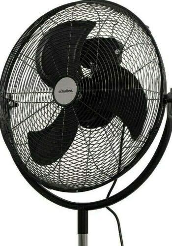 Schallen 18″ 360° Rotation High Velocity Pedestal Floor Standing Air Cooling Fan in BLACK