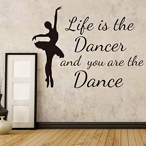 Home & Garden Reliable Dctop Art Design Dance Wall Stickers Ballet Shoes Ballerina Gym Girls Bedroom Home Decor Vinyl Adhesive Wall Decals For Nursery The Latest Fashion