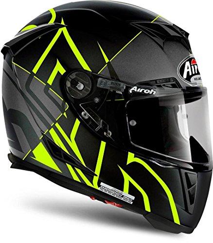 Airoh Casco Integral Casco de Moto GP 500sectors Yellow Mate XS