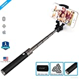 ZAAP (USA)NUSTAR5 Aluminium(3rd Generation)Bluetooth Monopod Selfie Stick with In-built Remote Shutter|Universal Compatible For iPhone & Smartphones (Black)