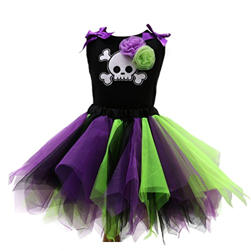 Sronjn Halloween Vestido de Tutú Encaje Traje de Fiesta Princesas Dress sin Mangas Estilo 3 XL