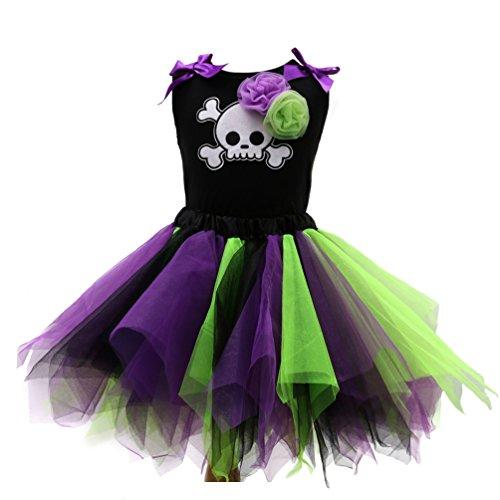 Sronjn Mädchen Ärmellos Kinder Kleid Halloween Karneval Kostüm festlich Partykleid Cosplay Kostüme Kleidung Festzug Stil 3 ()