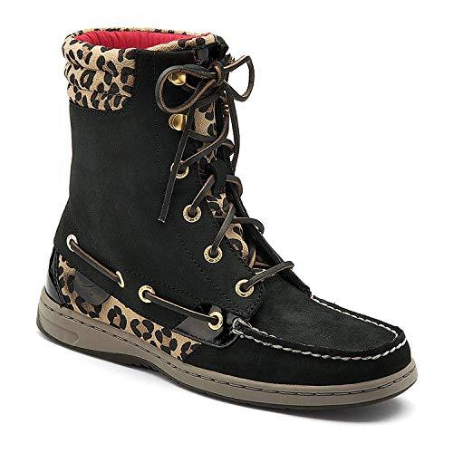 Sperry Boot (Sperry top-Sider Frauen Hikerfish-Boot, Schwarz (schwarz/leopardendesign), 36 B(M) EU)
