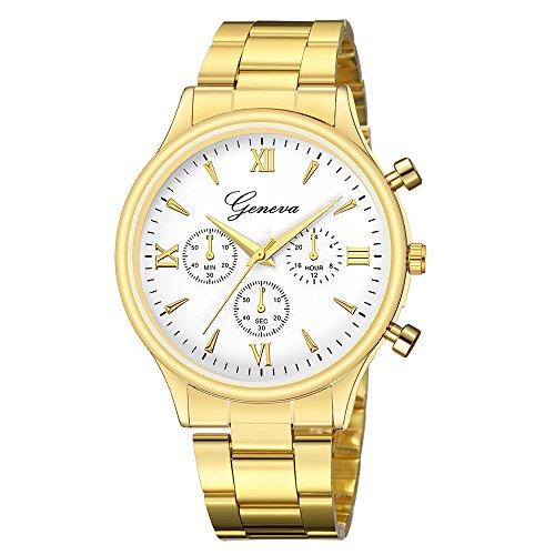 IG-Invictus Luxusuhr Mode Edelstahl Uhr Für Männer Quarz Analoge Armbanduhr Genf Net Gürtel Uhr 649 Stahlgürtel Goldene Weiße Gesicht