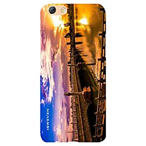 iSweven Overbridge Of River design printed matte finish back case cover for Oppo F3