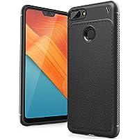 Huawei Honor 10 Lite 2018 Funda, FindaGift TPU Suave Ultra Delgado [Inastillable][A prueba de choques][Protección completa] Bumper A prueba de huellas Back Cover con base antideslizante para Honor 10 Lite 2018 (Negro)