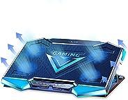 وسادة تبريد للكمبيوتر المحمول للألعاب ، حامل مروحة تبريد للكمبيوتر المحمول 11.6-17.3 بوصة ، 5 مراوح عالية السر