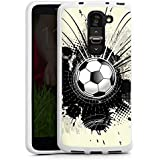 LG G2 mini Hülle Silikon Case Schutz Cover Fußball Sport Klecks
