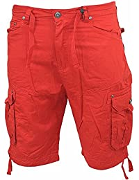 e57a909313 Smith and Jones Mens Chinos Style Shorts Combat Cargo Knee Length Half Pant  Summer [30 In, Black]
