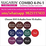 #8: Sugarin Combo Whipping Color Gel, 7gm X 4 pcs.